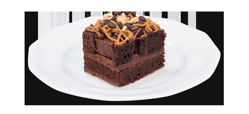 Kawałek brownie na talerzyku