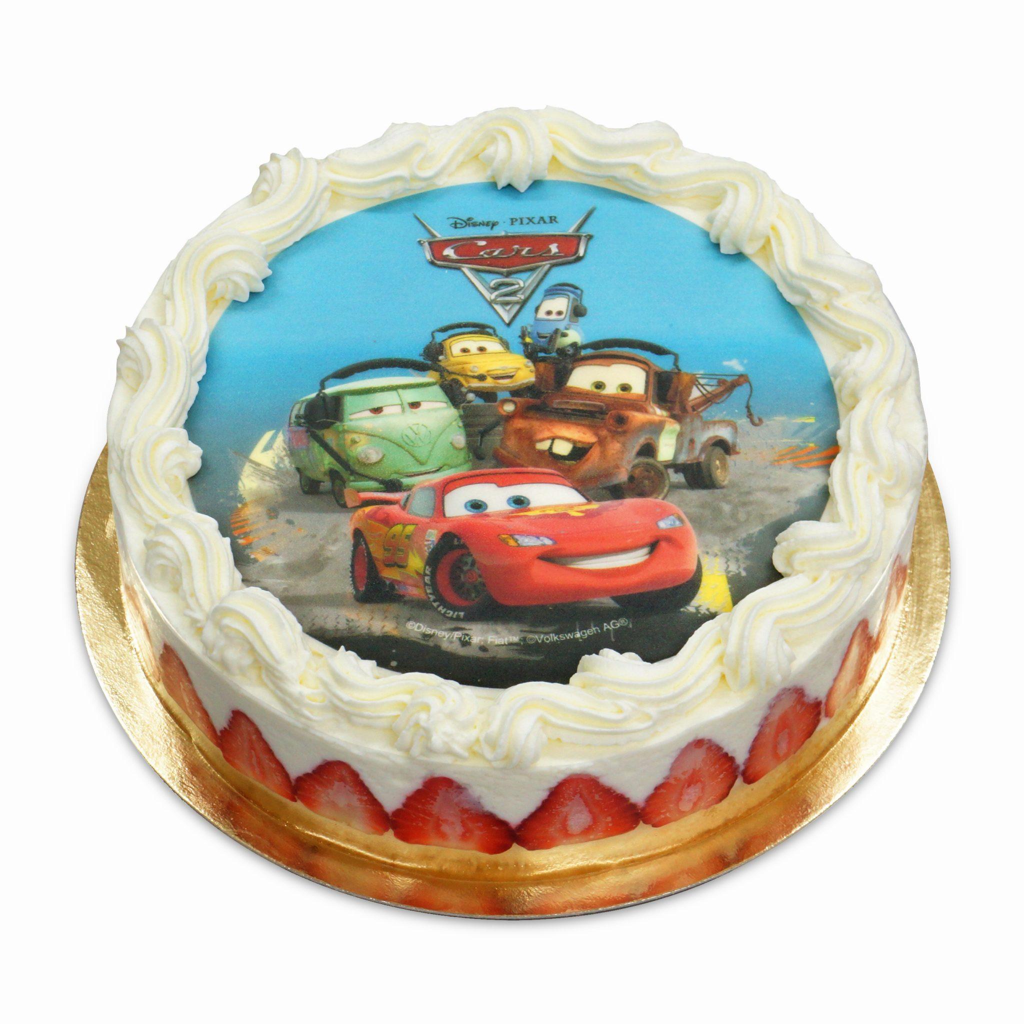 tort ostrow dla dziecka  z obrazkiem auta