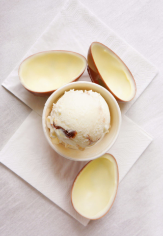 Lody o smaku Kinder niespodzianki, lody jajko niespodzianka