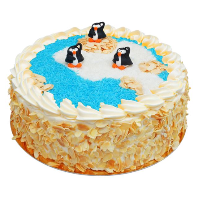Tort z pingwinami