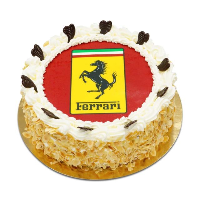 Tort z logo Ferrari