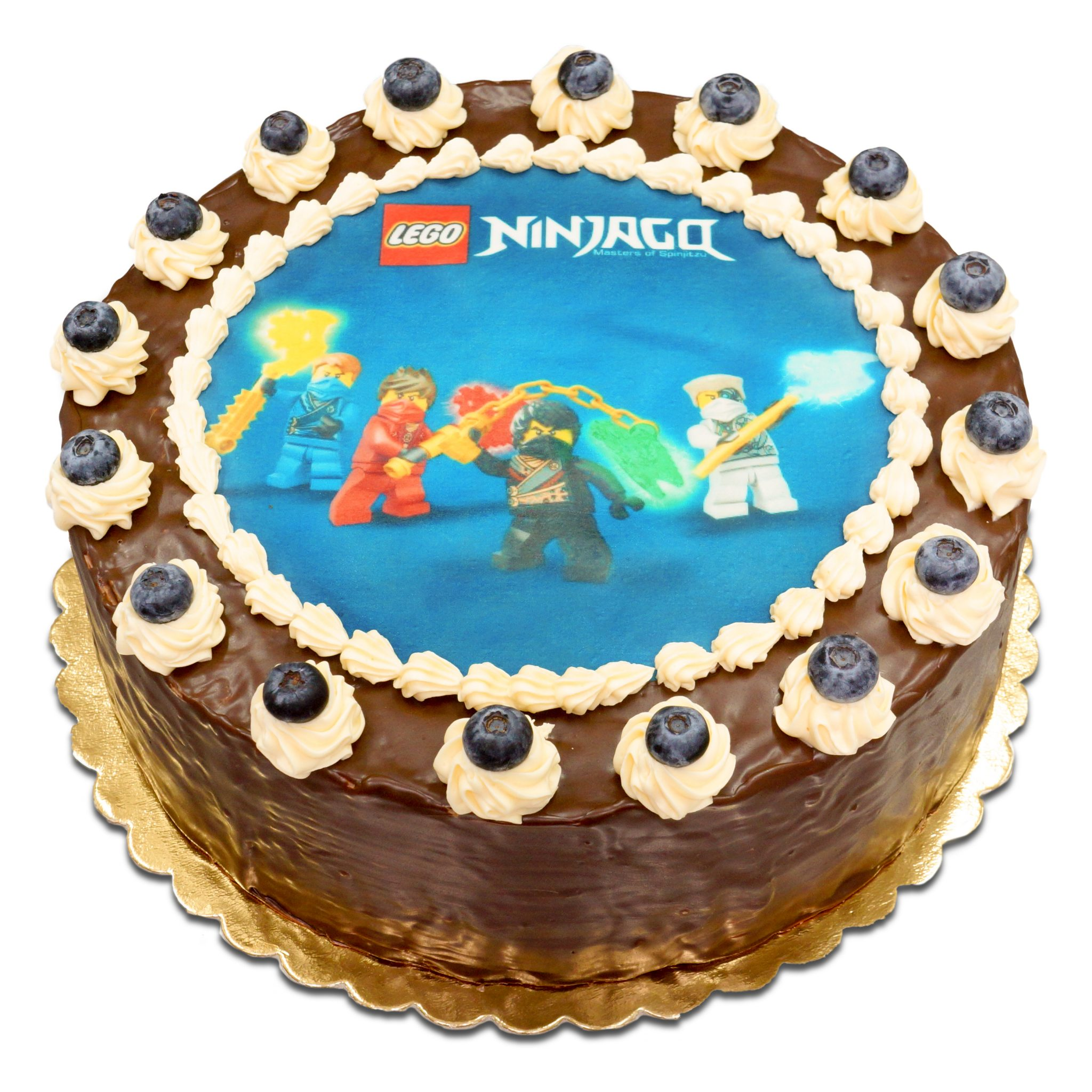 Tort ostrow z nadrukiem LEGO Ninjago