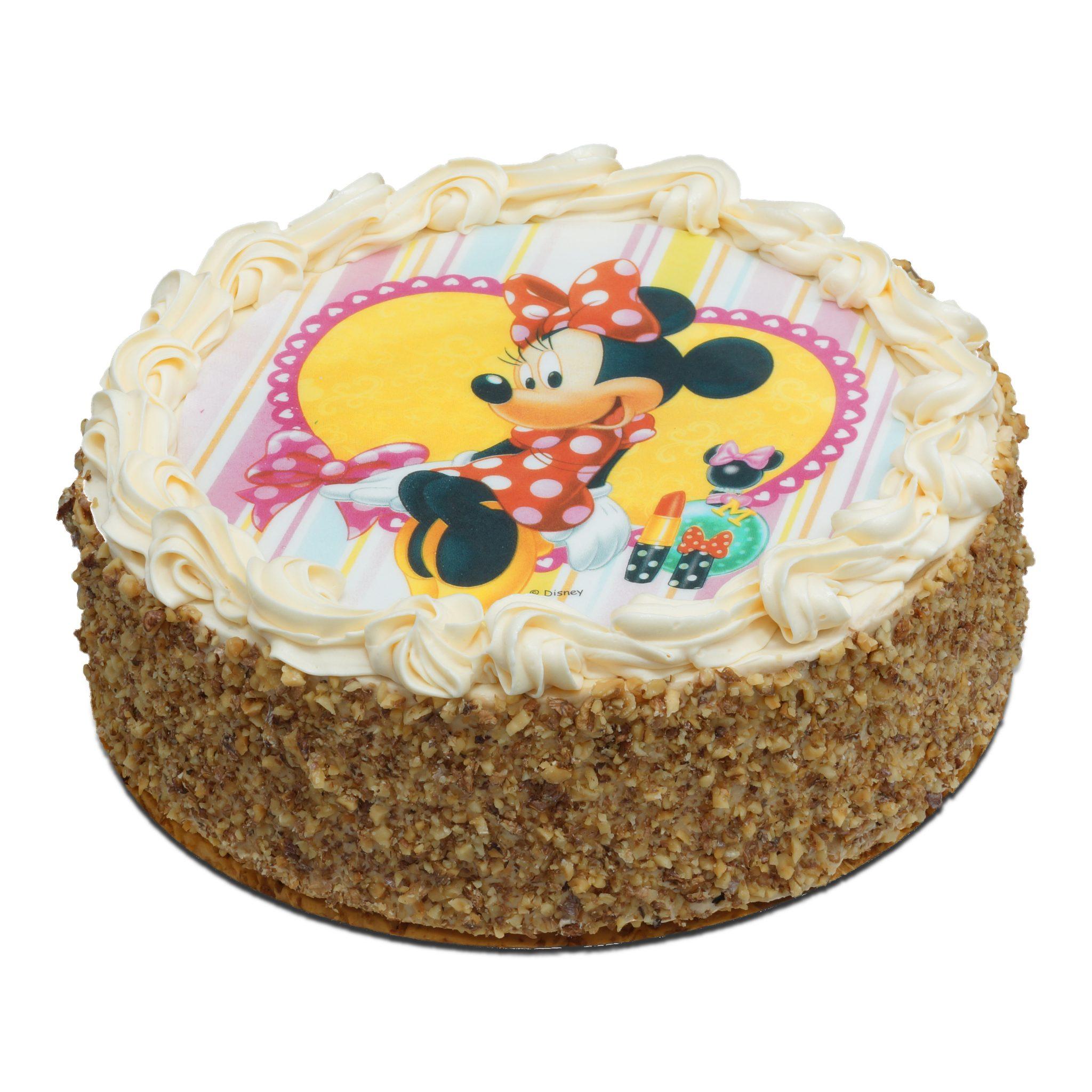 Tort z opłatkiem myszki Minnie