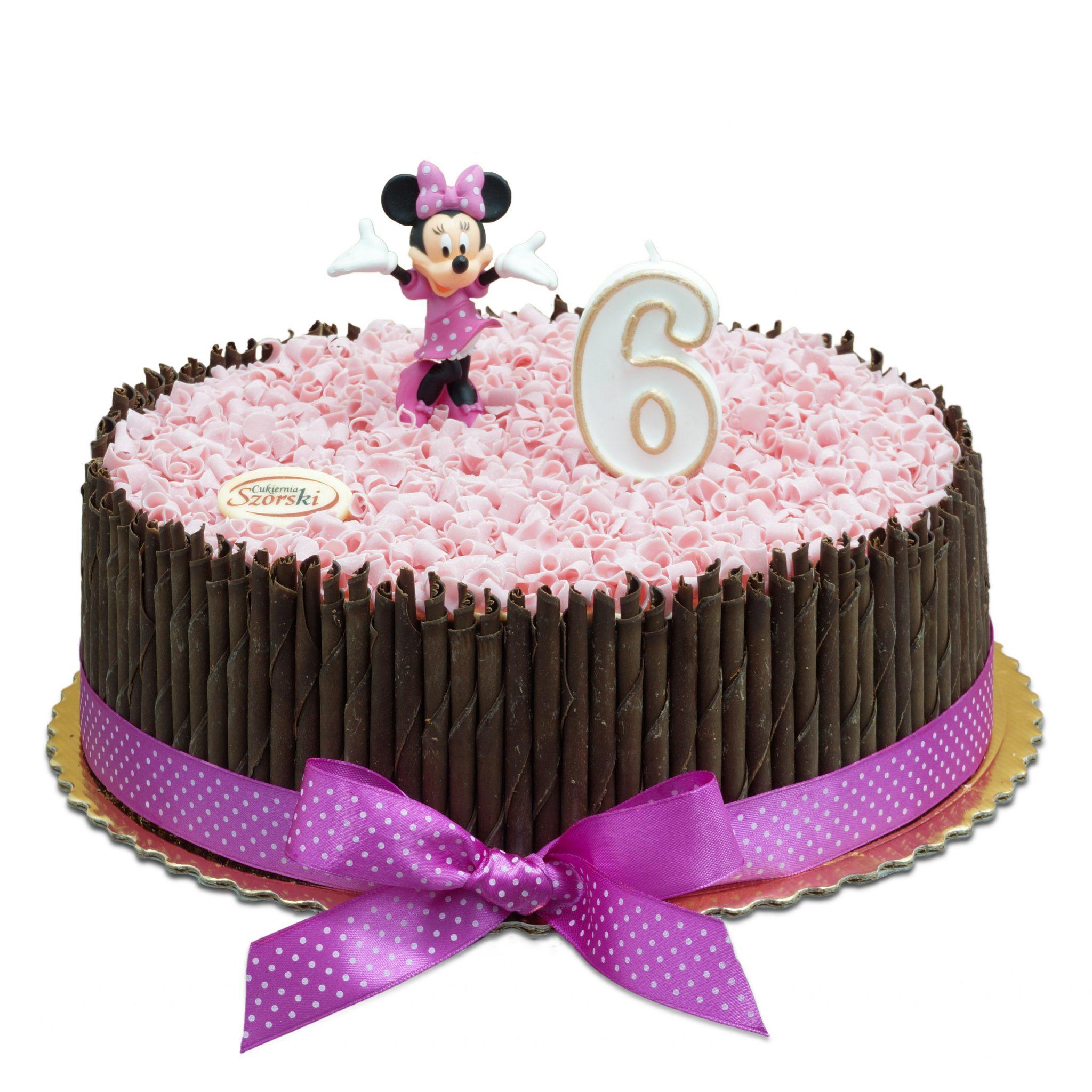Tort z figurką myszki Minnie