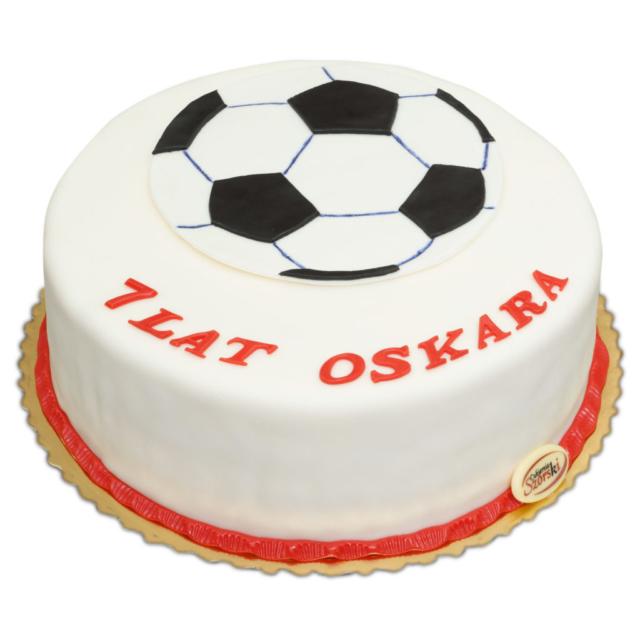 Tort z piłką nożną