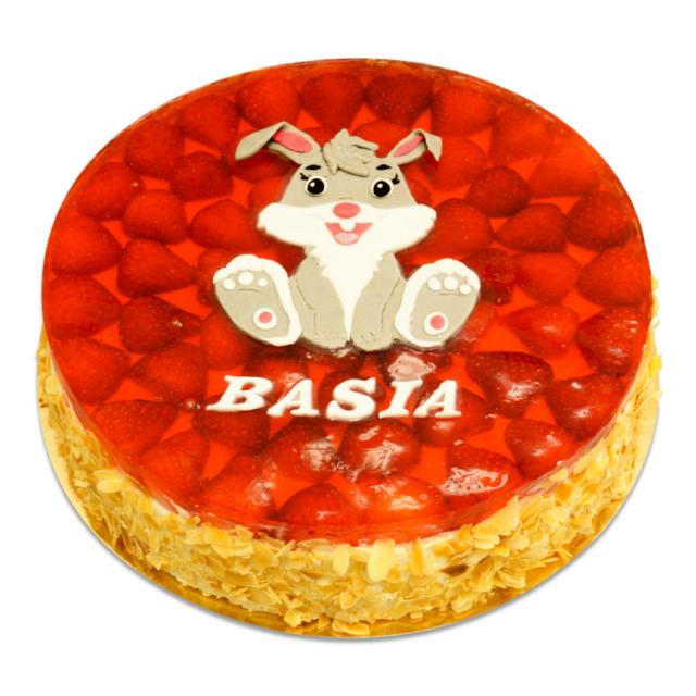 Tort Truskawkowy z Króliczkiem