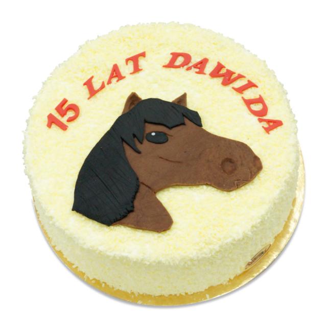 Tort ostrów z wizerunkiem konia z koniem