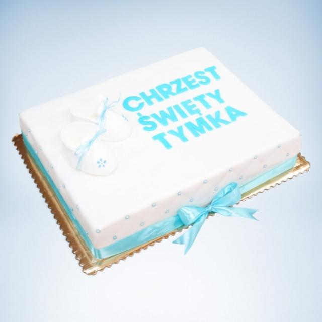 duży tort na chrzest
