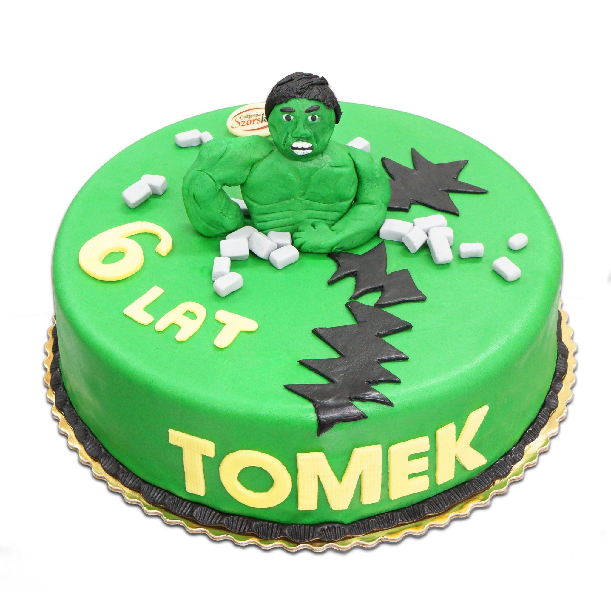 tort z figurką Hulka Ostrów Wielkopolski