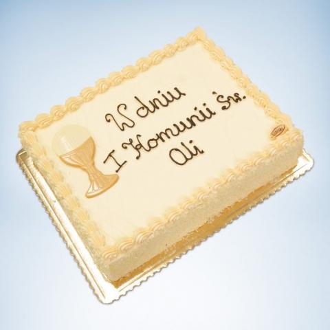 Duży tort na I komnuię
