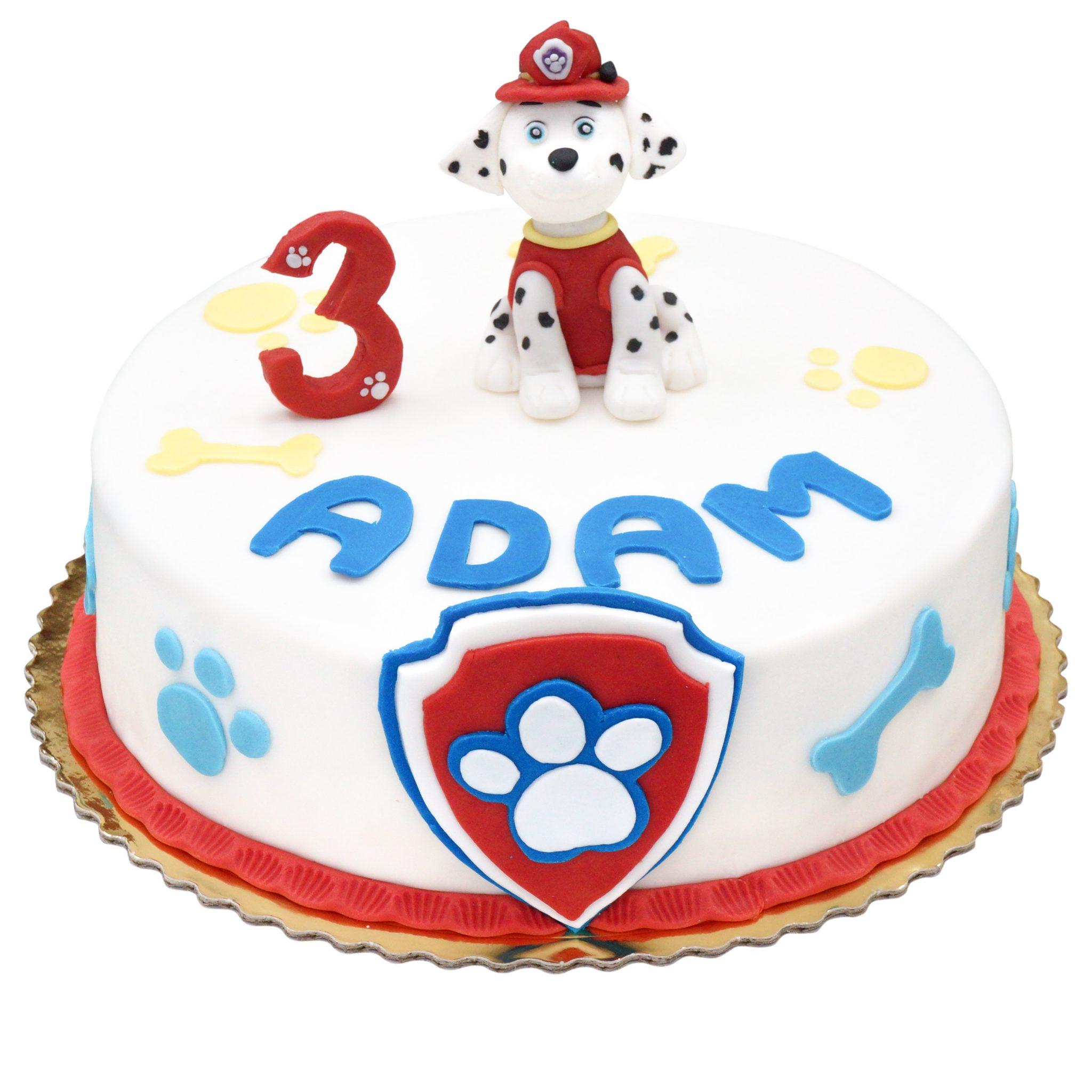 Tort z psem strażakiem