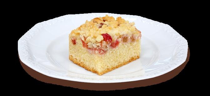 Kawałek ciasta babkowego na talerzyku