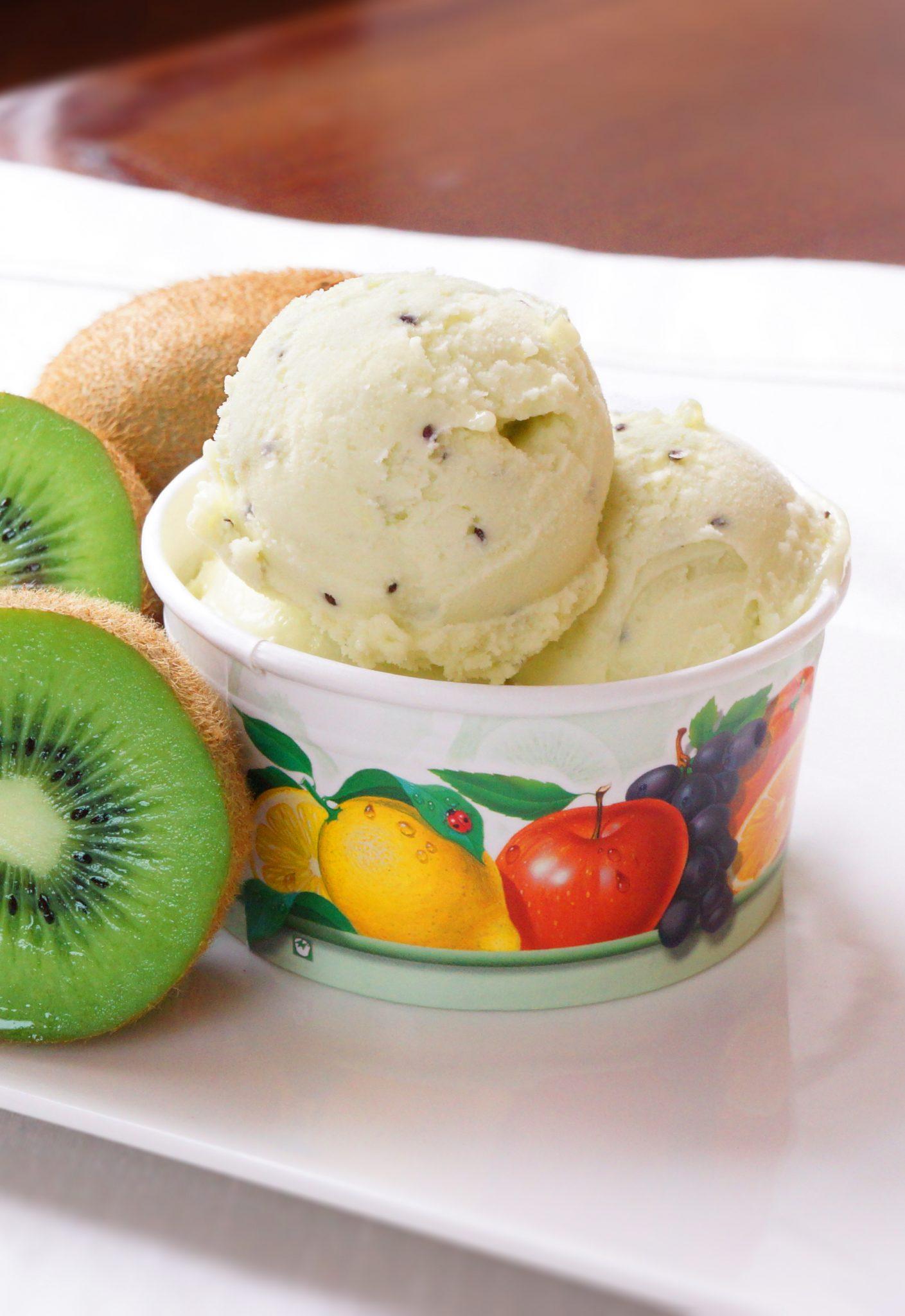 Sorbet Kiwi, lody o smaku kiwi