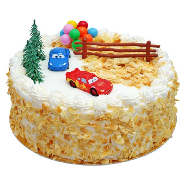 Tort z bajki Auta