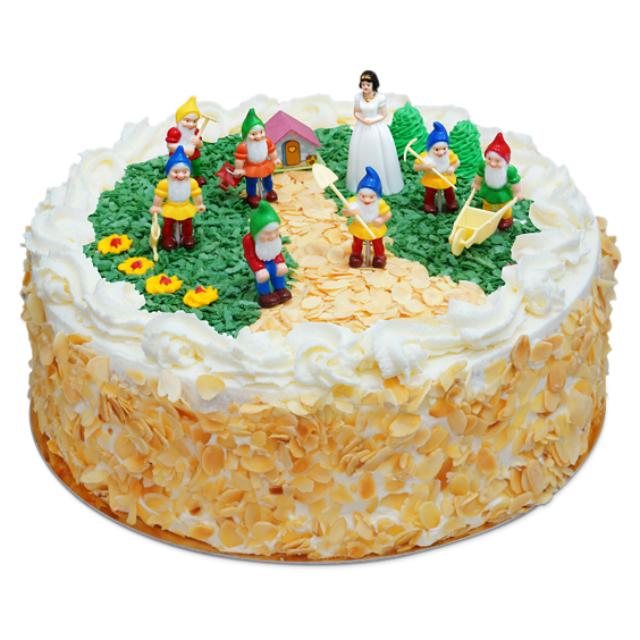 Tort z Królewną Śnieżką i siedmioma krasnoludkami