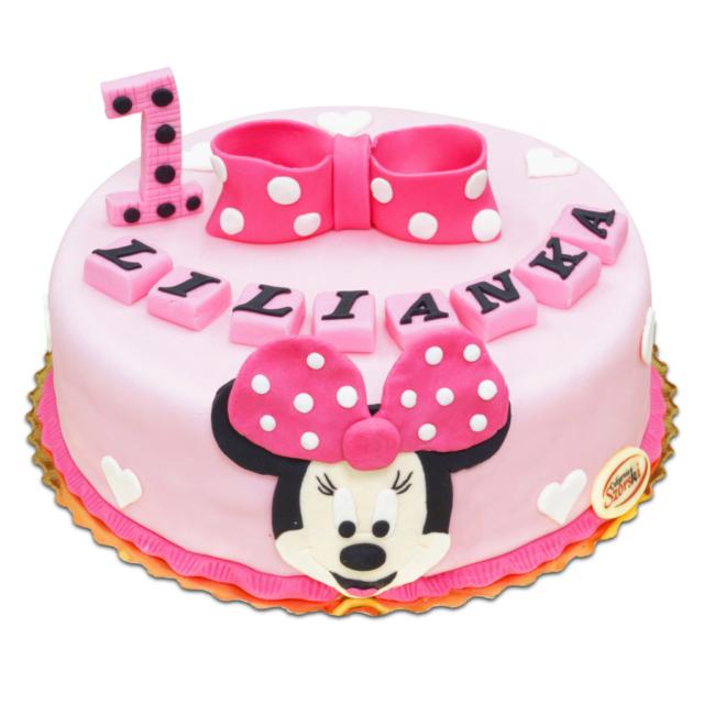 Tort na roczek z Minnie