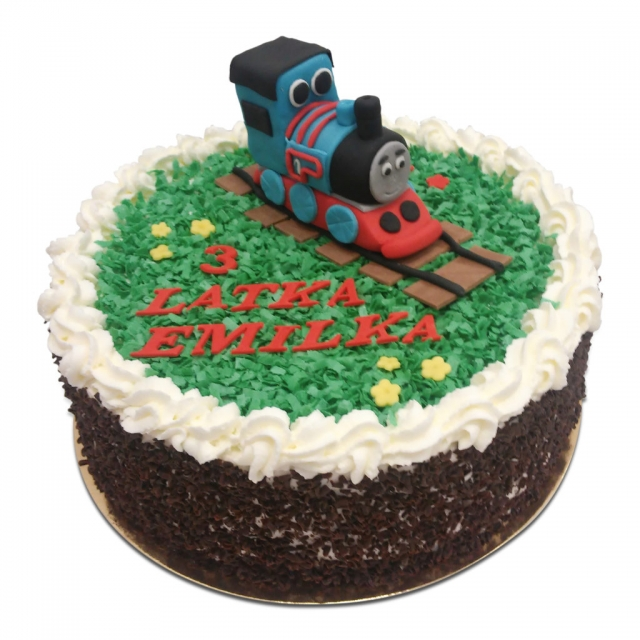 Tort z figurką pociągu Tomek