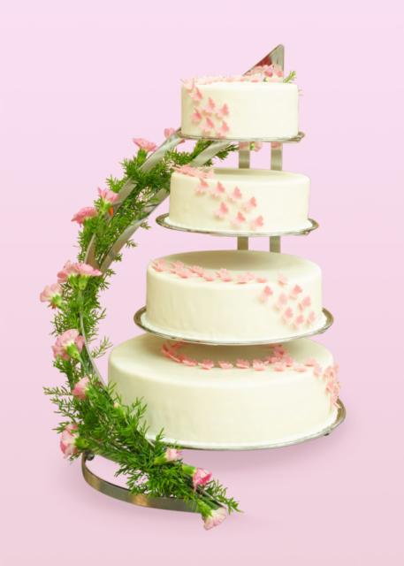 tort weselny, tort na wesele, 4 piętrowy tort