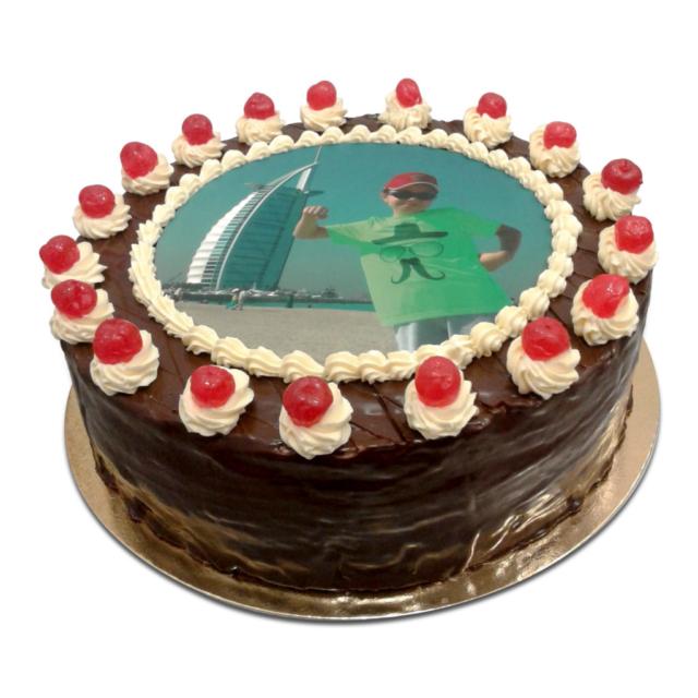 Tort z własnym zdjęciem