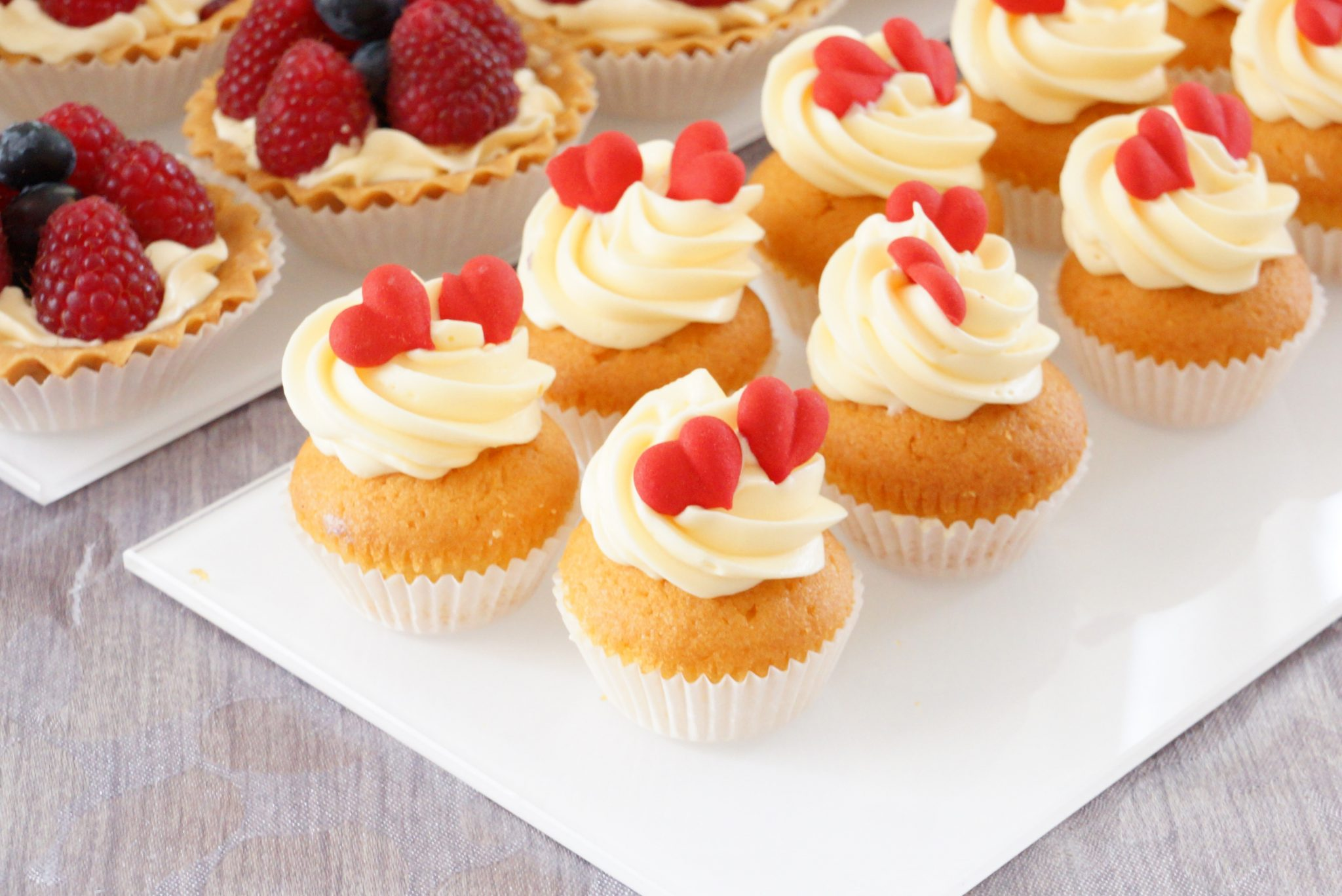 babeczki cupcake mini serca