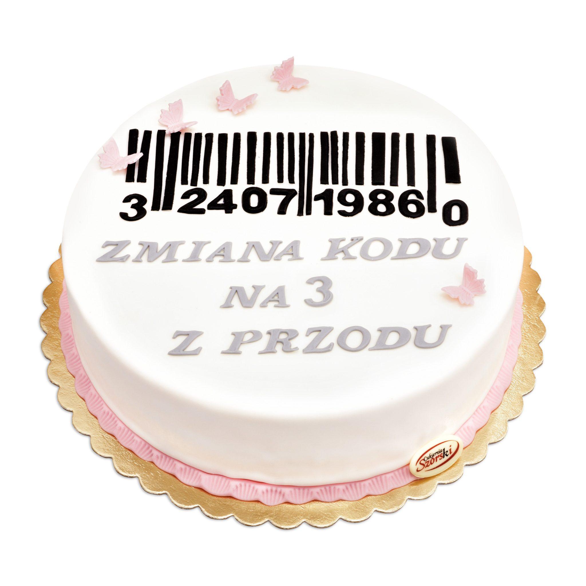 Artystyczny tort zmiana kody z ręcznie wykonanymi dekoracjami z masy cukrowej cukiernia ostrow wlkp