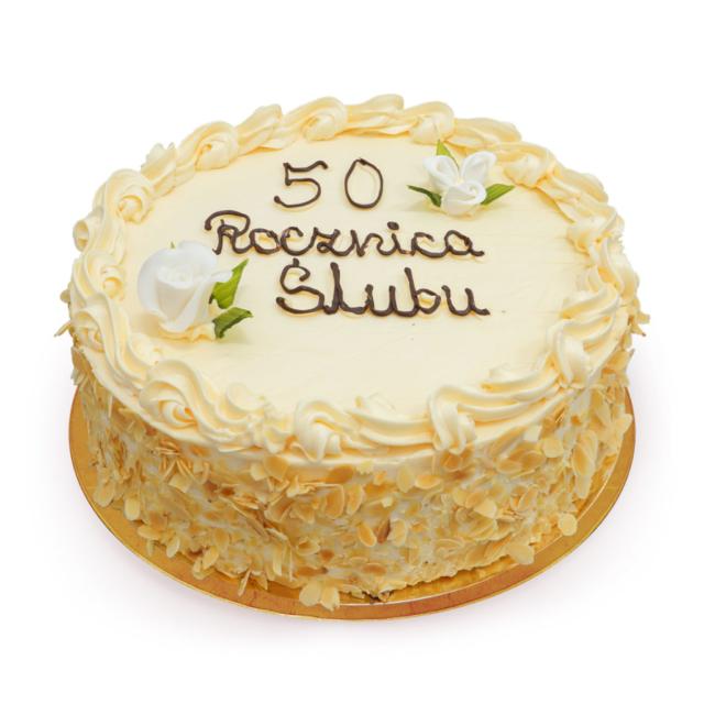 Tort na 50-tą rocznicę ślubu ostrów wielkopolski