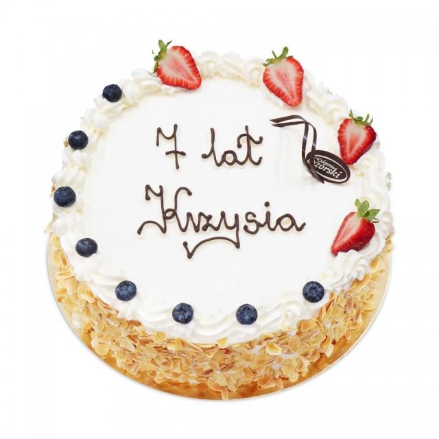 Tort urodzinowy z bitą śmietaną ostrów wielkopolski