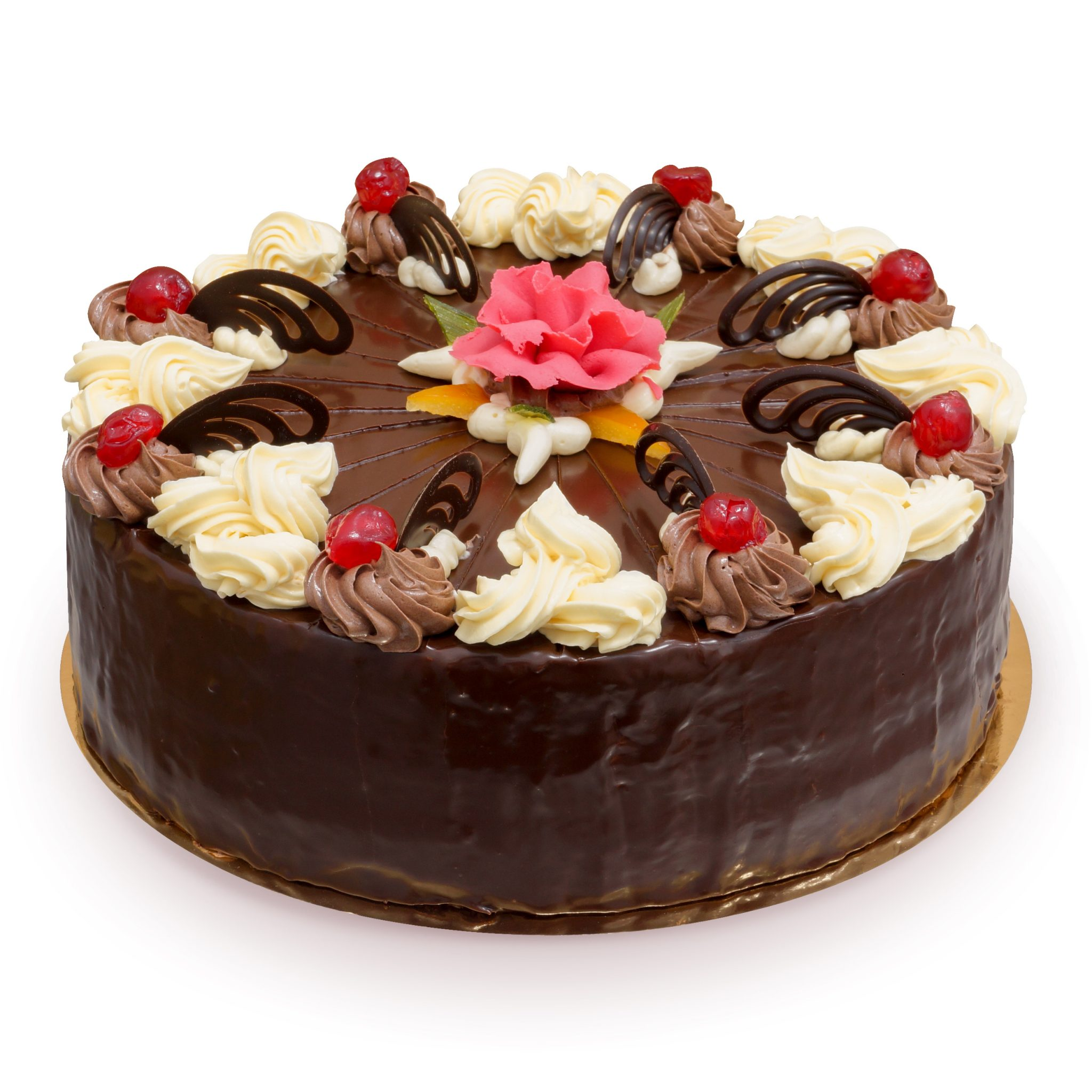 Tort czekoladowy z ozdobami ostrów wielkopolski