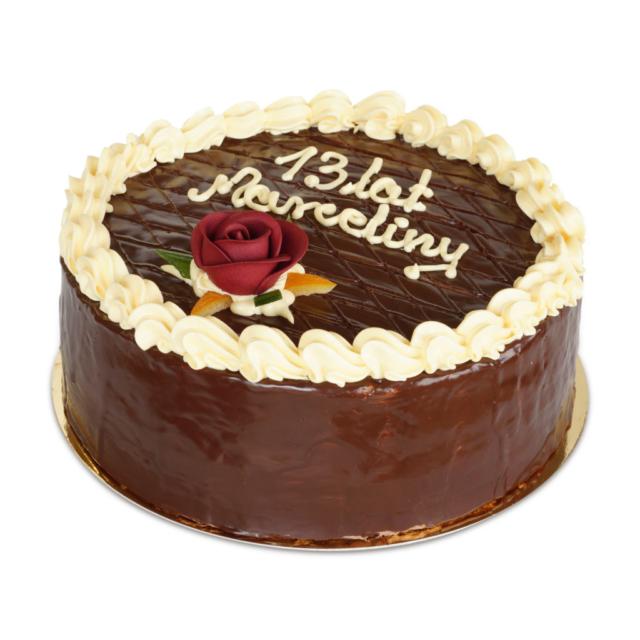 urodzinowy tort czekoladowy na urodziny ostrów wielkopolski
