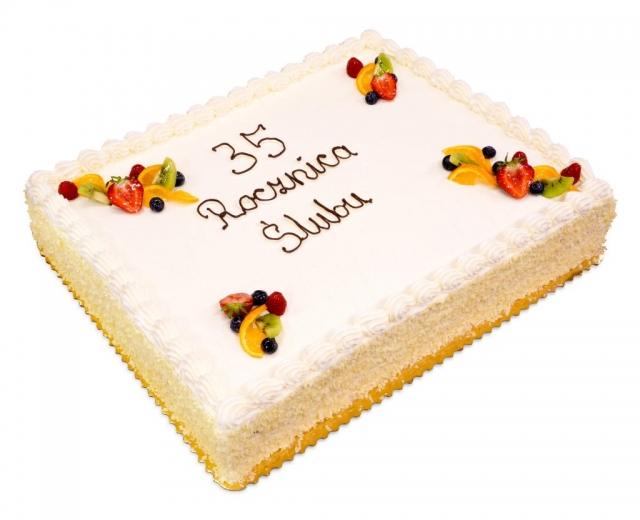 tort na 35-tą rocznicę ślubu