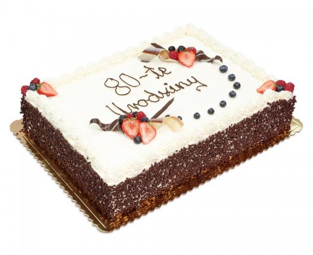 tort na 80-te urodziny