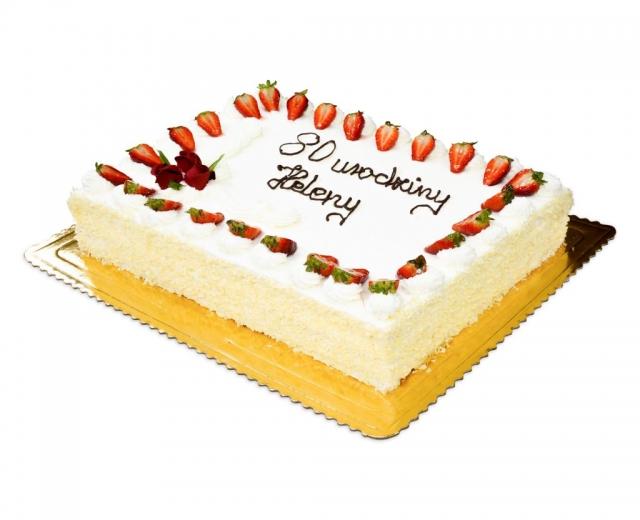 Jasny tort na 80 urodziny