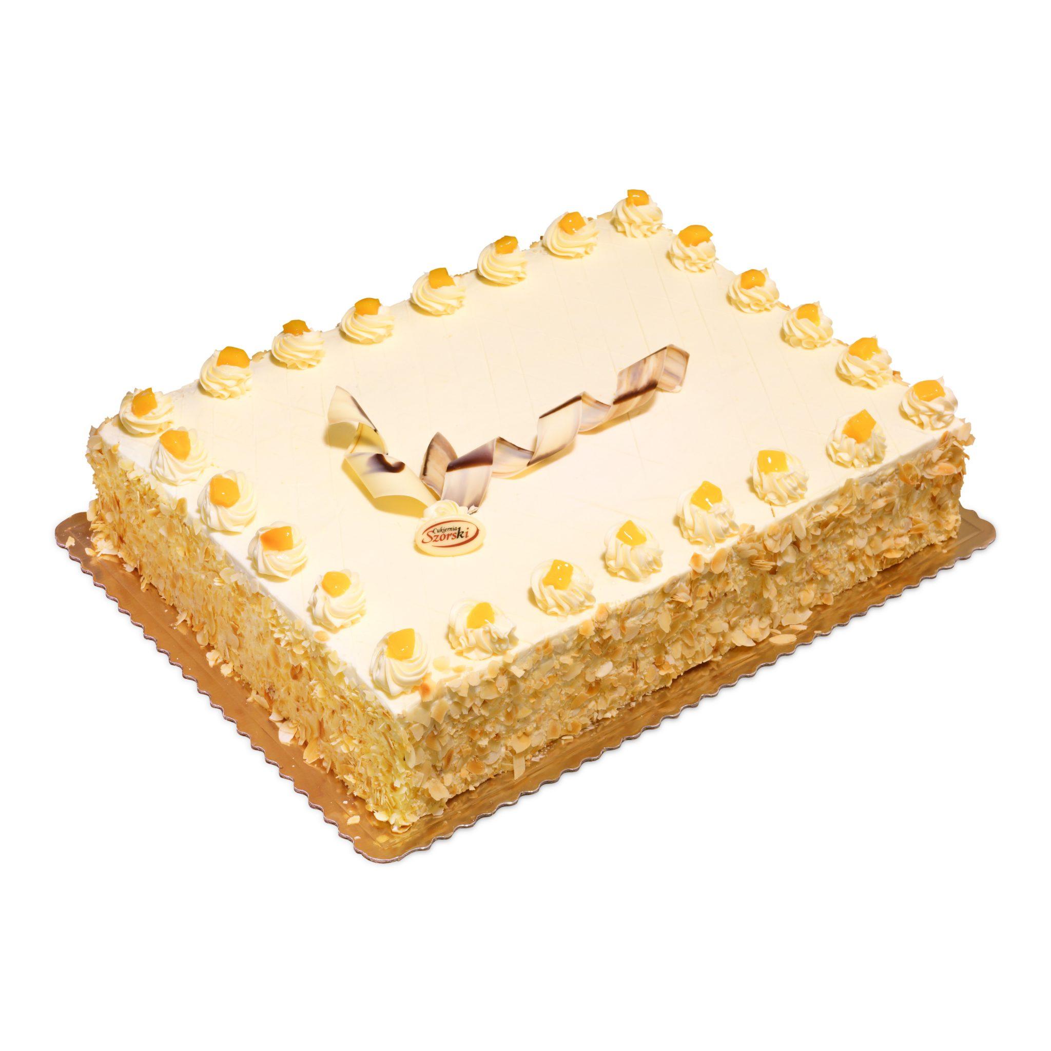 jasny prosotokątny tort