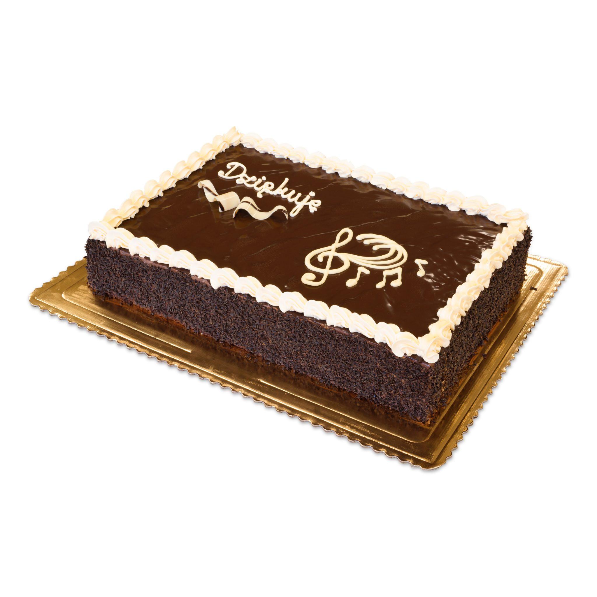 tort z podziękowaniem