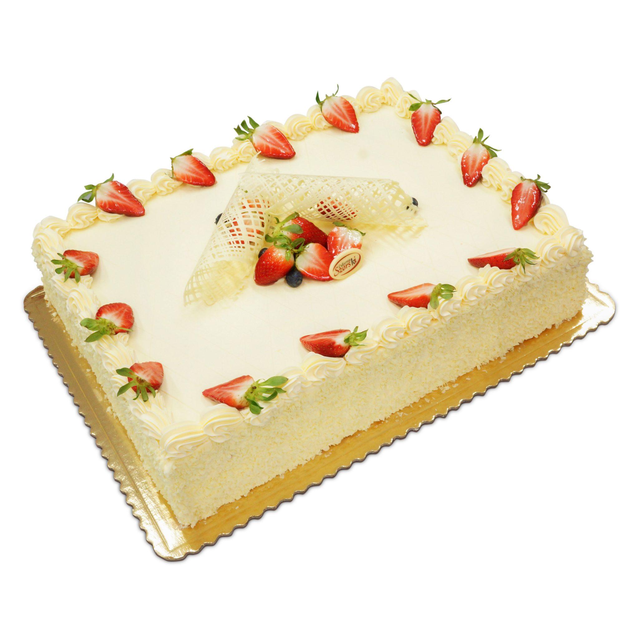 tort na wydarzenia z truskawkami