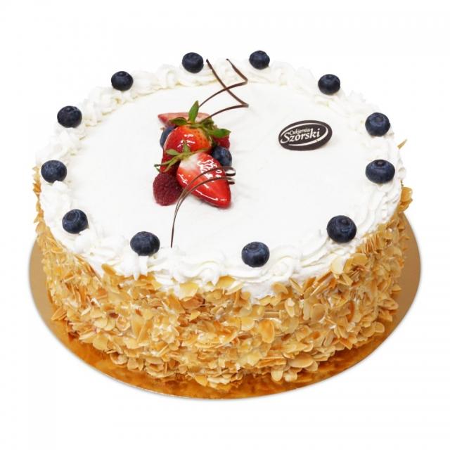 Tort z borówkami ostrów wlkp, tort na zamówienie