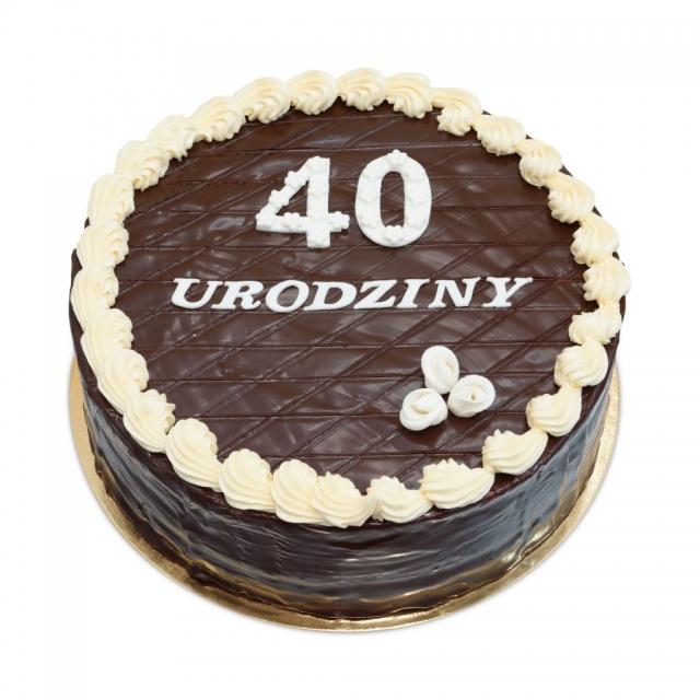 Czekoladowy tort na 40-ste urodziny, torty ostrów wielkopolski