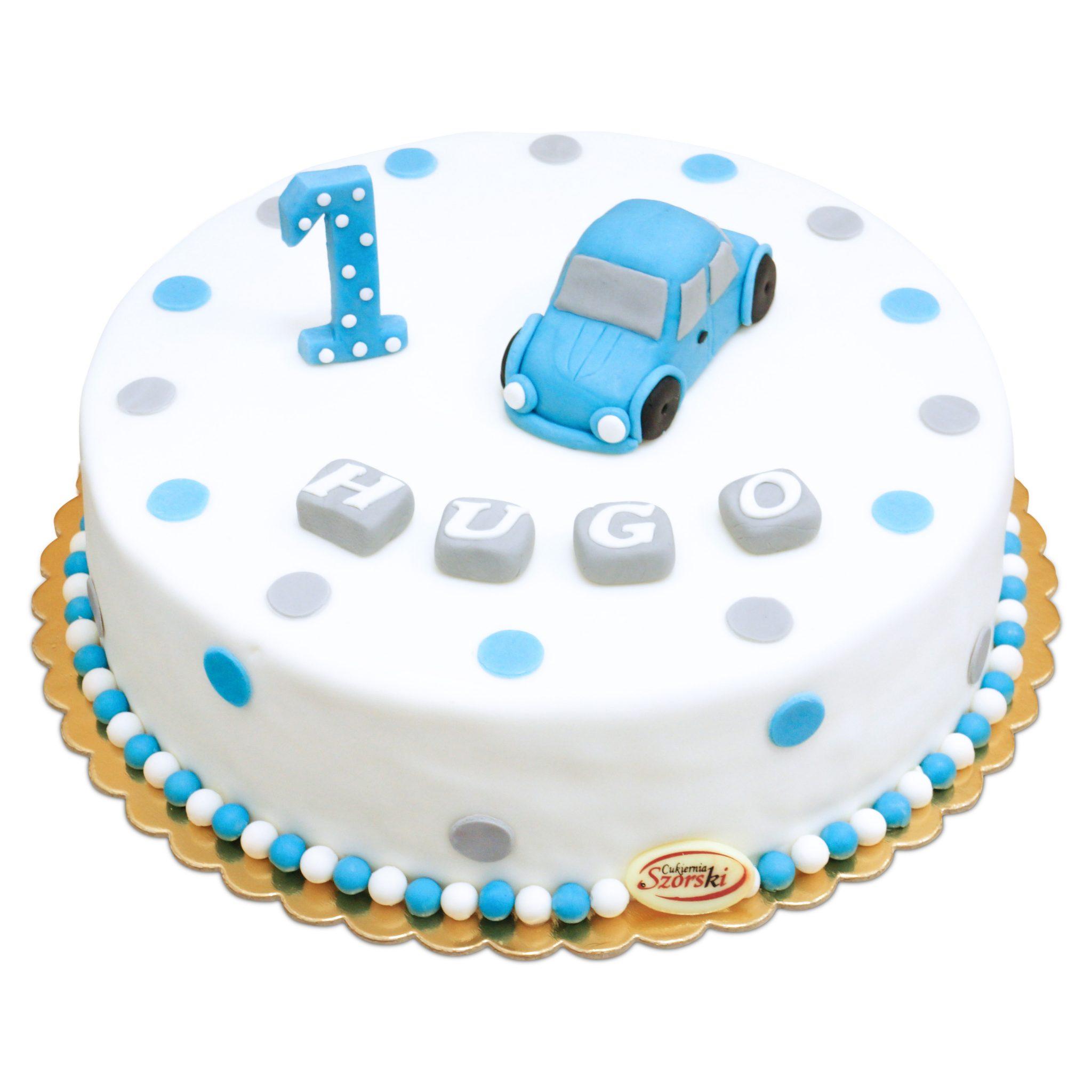Tort na roczek samochodzik
