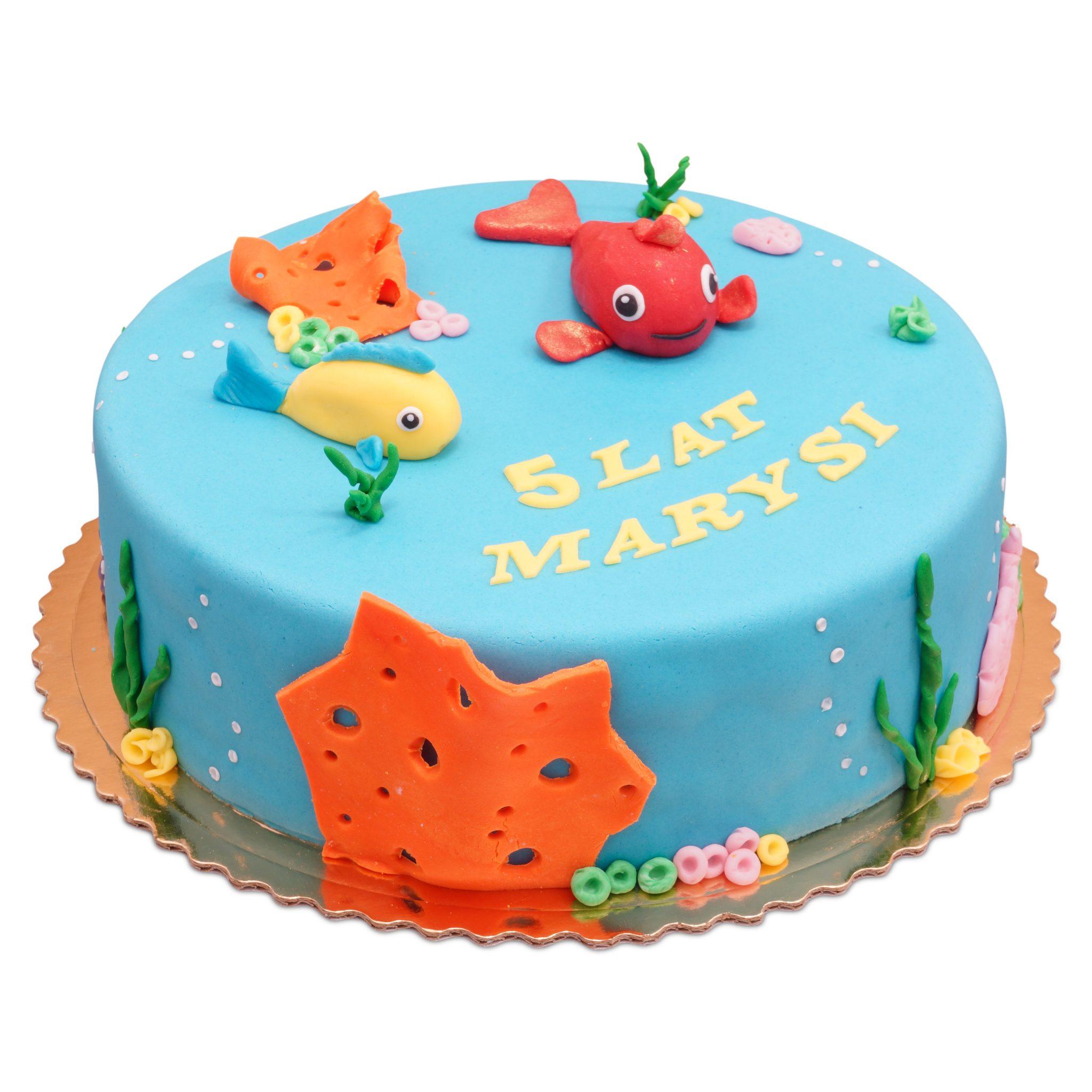 tort dla dzieci z rybkami
