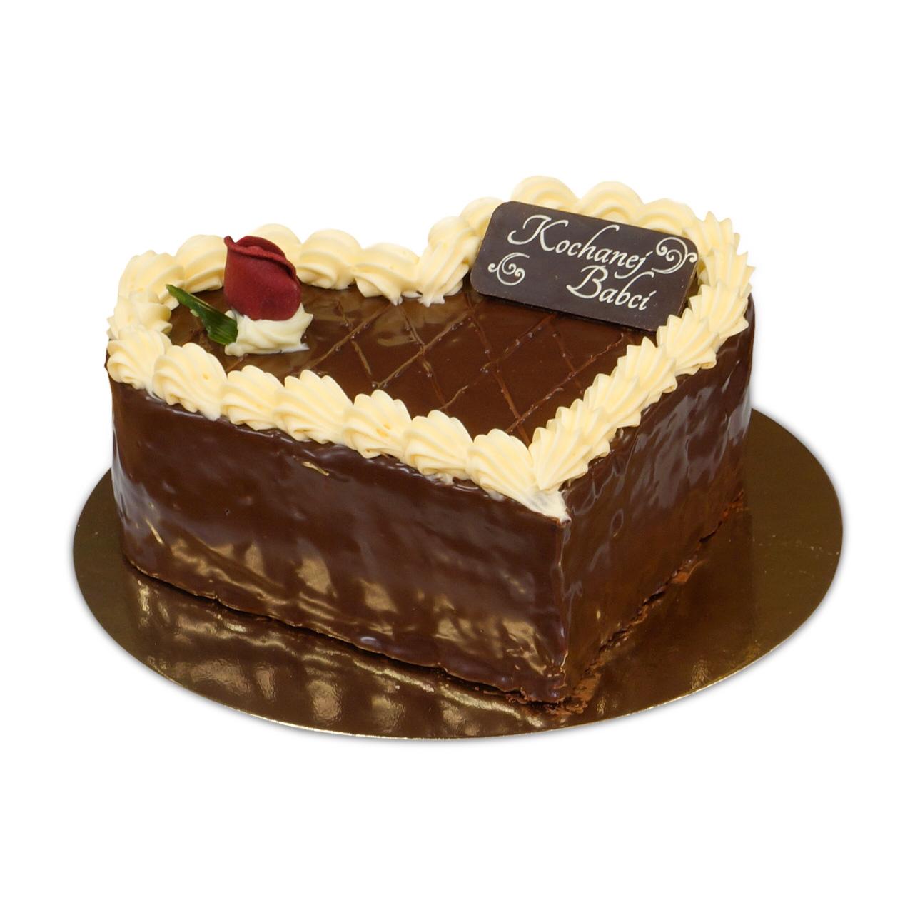Tort w kształcie serce czekoladowy ostrów wielkopolski