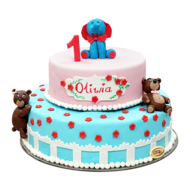 tort dla dzieci misie słonik