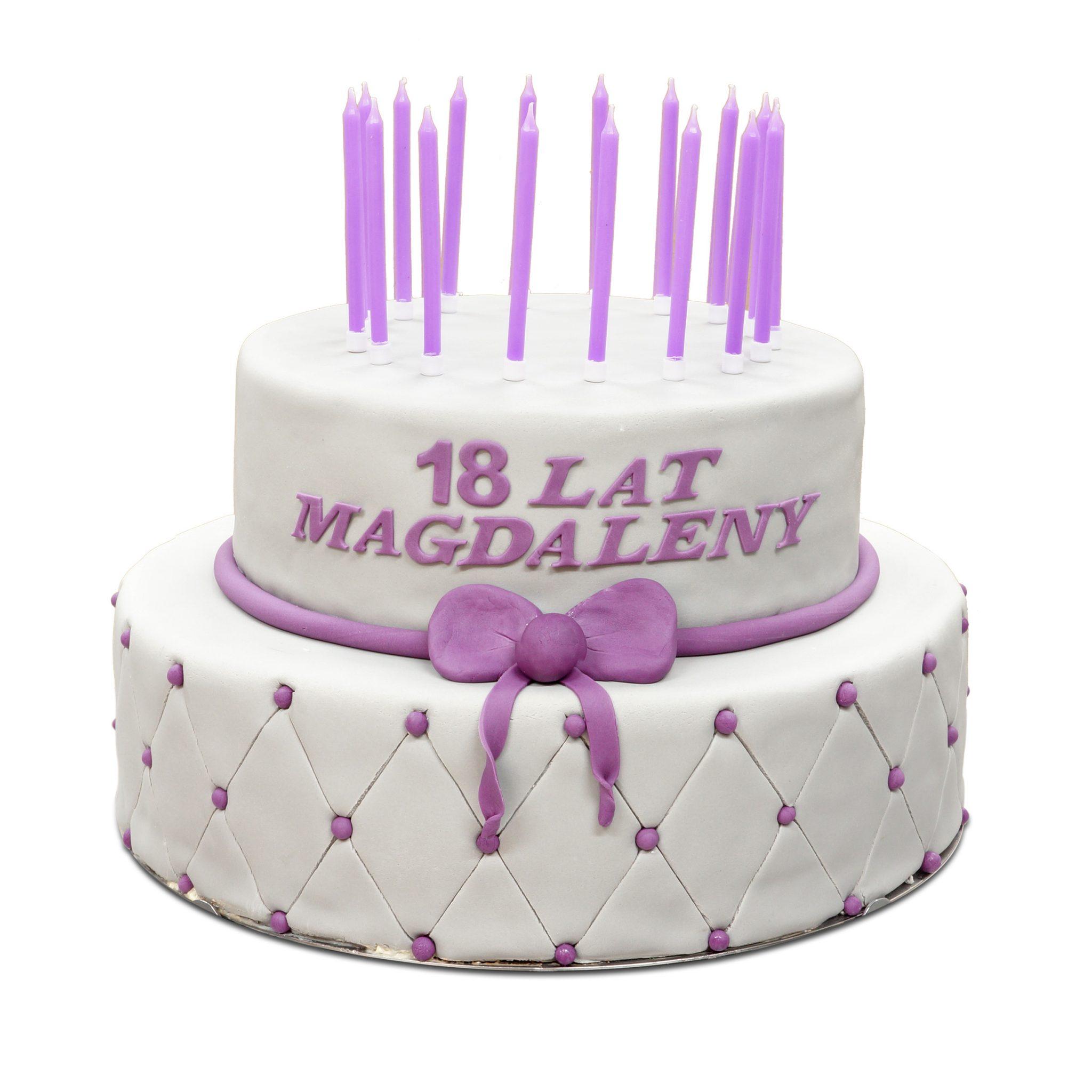 tort na 18-ste urodziny z masa cukrowa ostrów wlkp