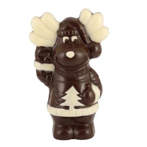 Renifer z czekolady deserowej