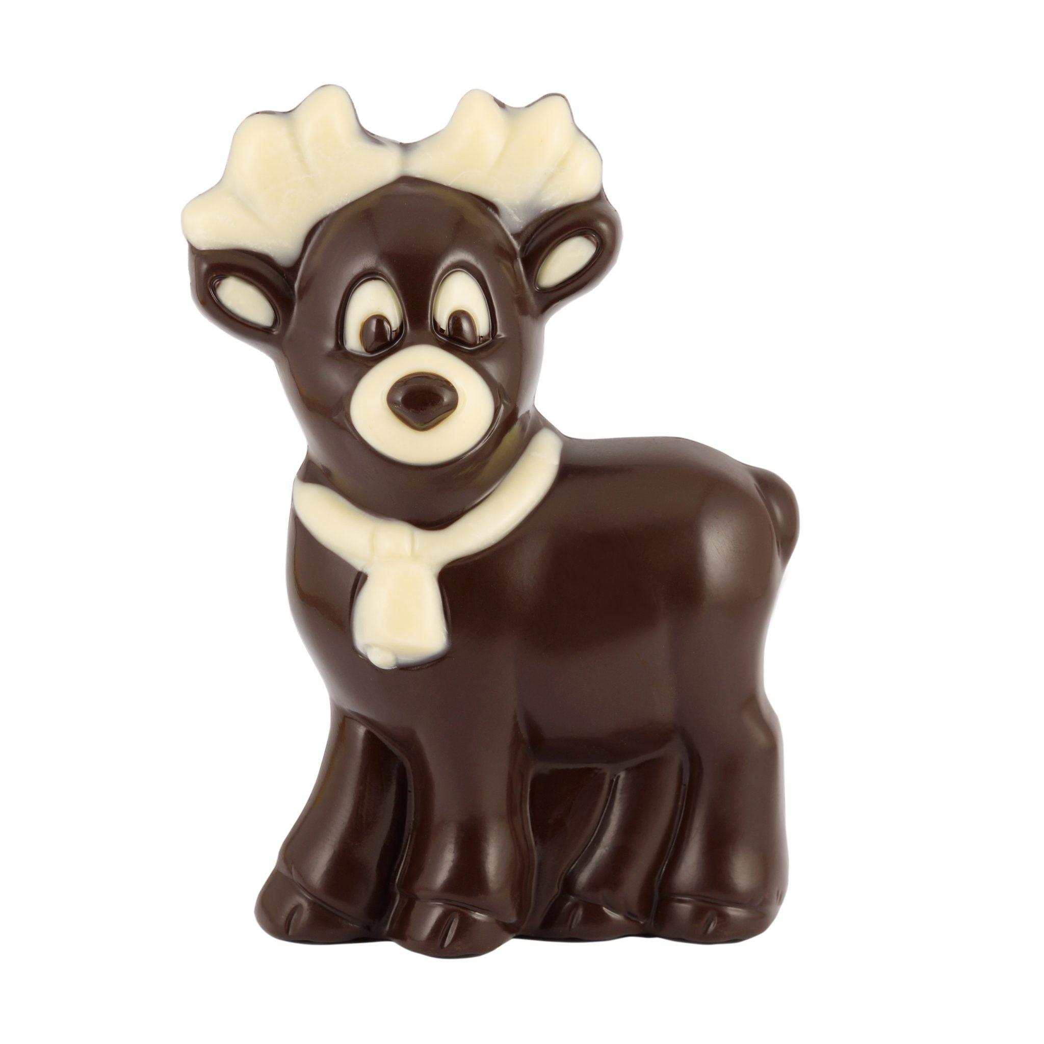 Reniferek z czekolady deserowej