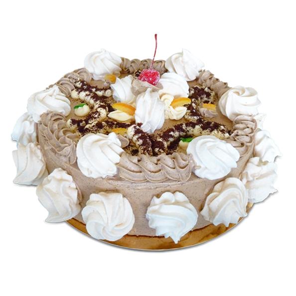 tort bezowo kawowy
