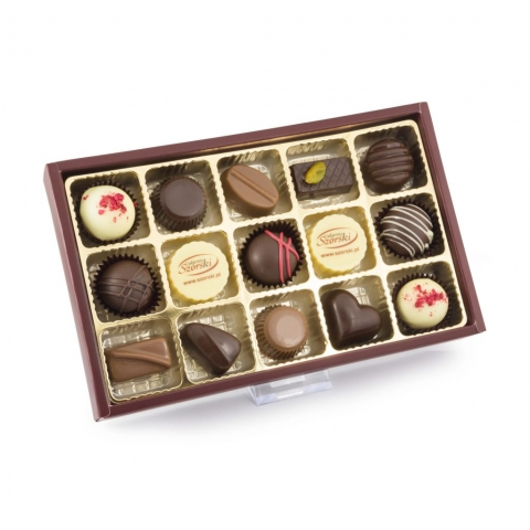 czekoladki z logo firmy