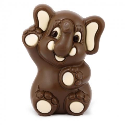 slonik z czekolady deserowej