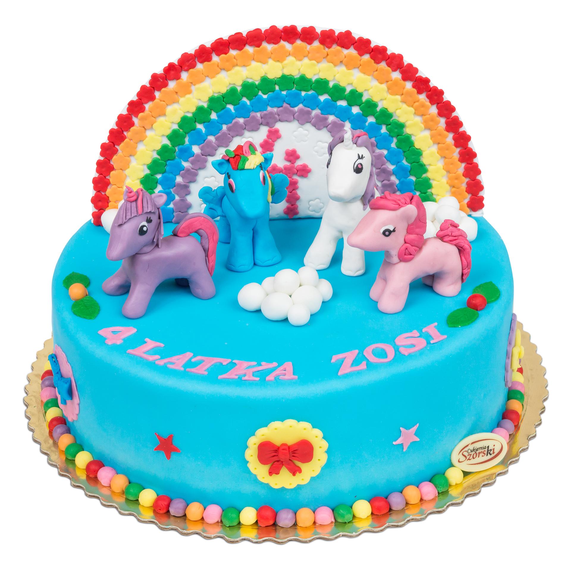 tort z kucykami