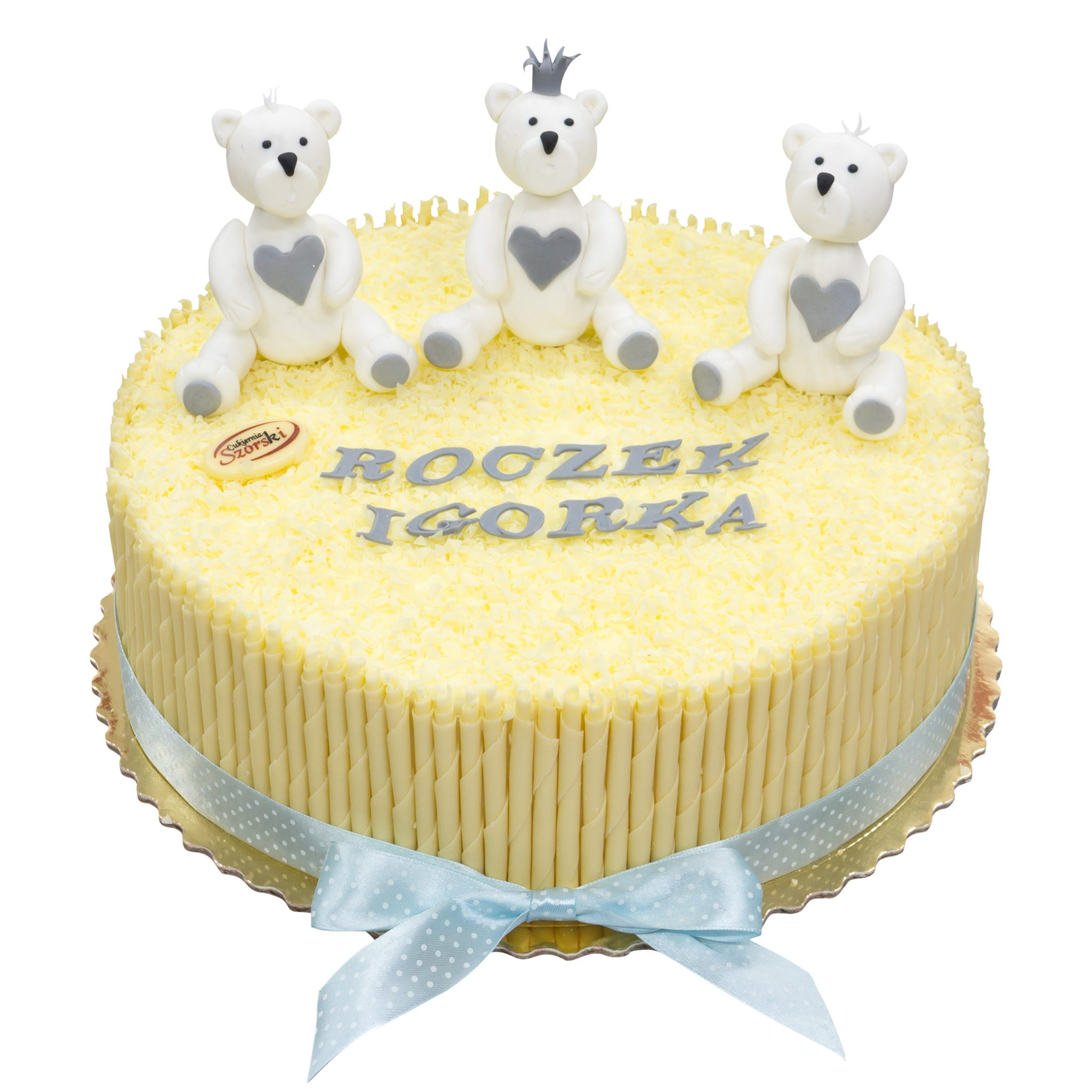 tort na roczek misie