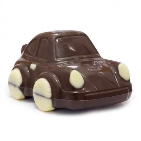 autko z czekolady deserowej